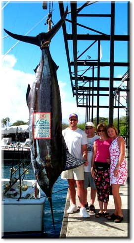 blue marling caught off the Kona coast of Hawaii